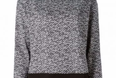 Female Greyand Black Wool Sweatshirt