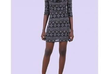 Private: Innovation Multipattern Drop-neck Dress