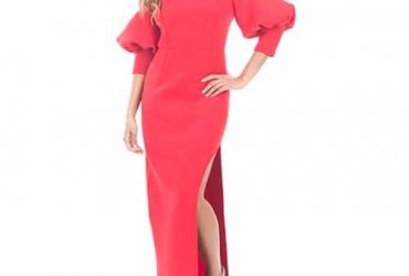 Cold Shoulder Puffy Sleeves Dress