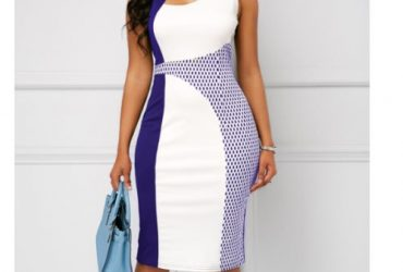 Ladies Midi Dress- Blue
