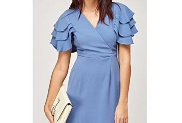 Collection London Layered Sleeve Wrap Dress