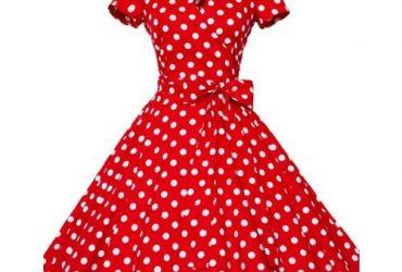 Women's Polka Dot Vintage Rockabilly Swing Dress