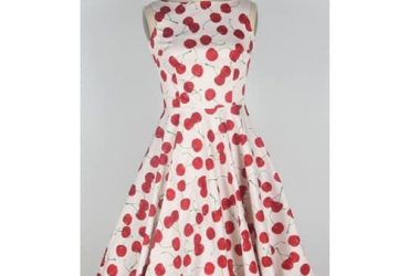 Women's Cherry Print Swing Ball Gown