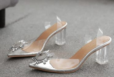 Transparent Block Heeled Sandals