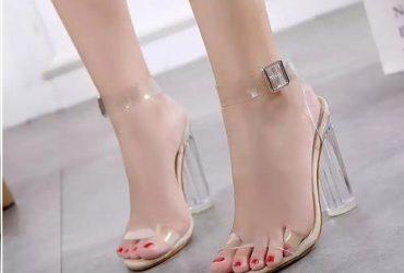 Heeled Transparent Sandal