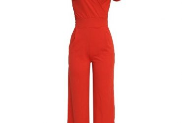 Robin Ruth Women's Luxury Wrap Front Jumpsuit