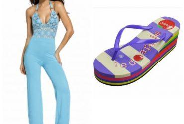 Wide Leg Jumpsuit with Free Flip Flop – Light BlueWide Leg Jumpsuit with Free Flip Flop – Light Blue
