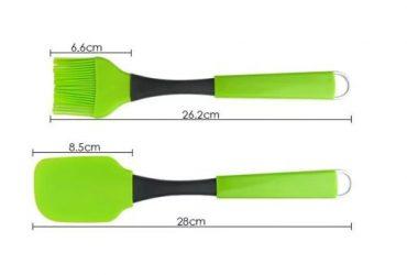 2pcs Silicon Spatula And Brush