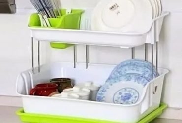 Double Layer Dish Drainer And Plate Rack