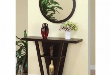 Coaster Console Table With Round Mirror