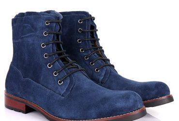 Billionaire Men's Suede Boots| Blue
