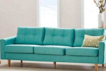 O2 3 Seater Fabric Sofa- Teal Green