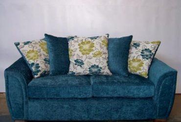 O2 Ella 3 Seater Fabric Sofa