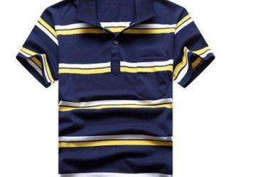 AWW Shortsleeve Striped Polo