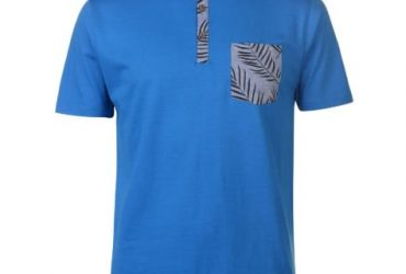 Authentic Printed Pocket Jersey Polo Shirt