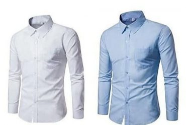 Fashion By LV 2 Pieces Classy Long Sleeve Shirts
