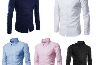 5 In 1 Quality Pairs Of Men Formal Shirts