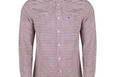 Tommy Hilfiger Men's Long-sleeve Button-down Stripes Shirt