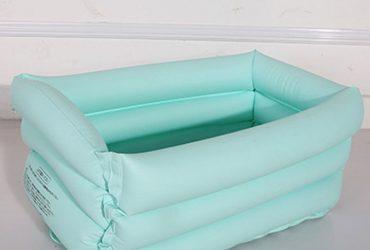 Baby bath tub children PVC pool warm tub infant folding pool spot blue All code