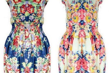 Set of 2 Flowery Print Sleeveless Midi Dress – Multi-Color