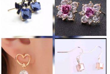 Fashion Jewelry Classy Women's Stud Earrings – 4 in 1