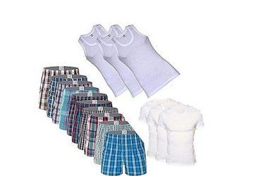 12 Pieces Men's Underwear Combo