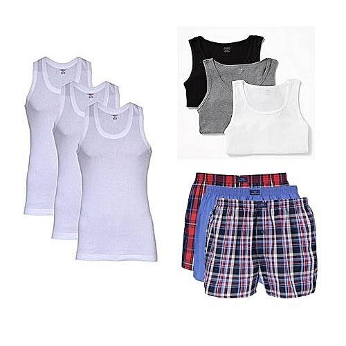 Men's Combo Of Boxers And Singlets