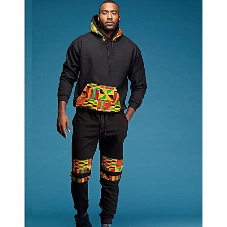 Kente Patched Black Up And Down
