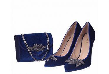 Menbur Blue Shoe and Bag