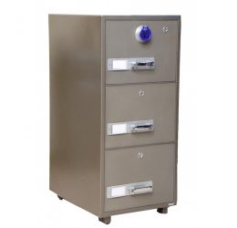 Gubabi 3-Drawer Fireproof Cabinet – Digital Lock