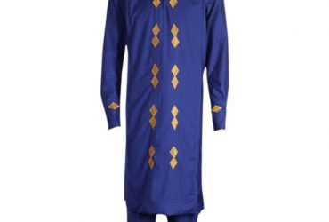Royal Blue Native with Gold Embroidery