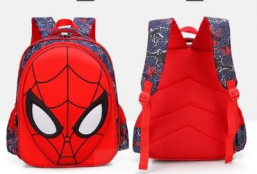 3D Cartoon Spiderman Backpack