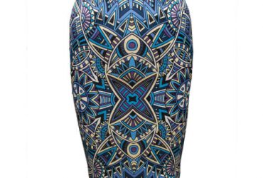 Pencil Flowery Skirt – Blue