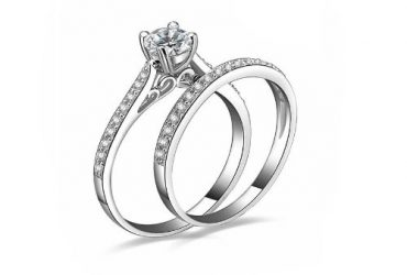 Women's Couple Engagement Wedding Ring