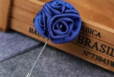 Lapel Pin Men's Rose Flower Suit