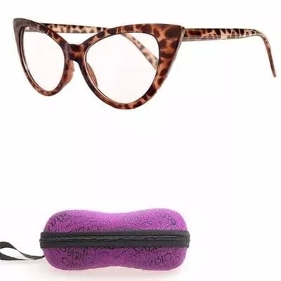 Cat Eye Leopard Print Glasses