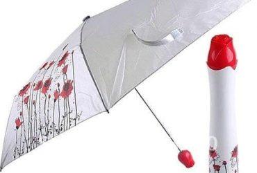 Universal Chef Rose Print Bottle Umbrella