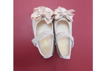 Girls' Gold Shoe With Bow