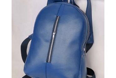 Handmade Leather School Bag – Navy Bl…
