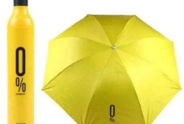 Bottle-Shaped Umbrella – Yellow