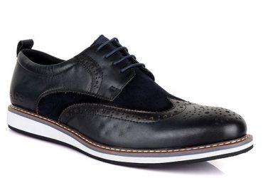 Aldo Bimaterial Lace Up Shoe | Navy Blue Black