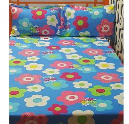 Blue Swiss Hibiscus Bedsheet