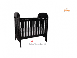 Vita Cottage Wooden Baby-Cot 4FT X 2FT