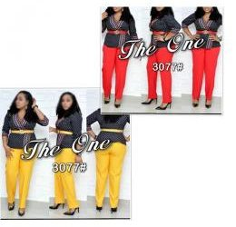 LADIES LOVELY CORPORATE GOWN BLOUSE AND TROUSERS
