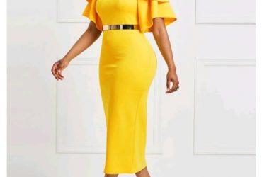 Pleated Short Sleeve Round Neck Body Con Maxi Dress
