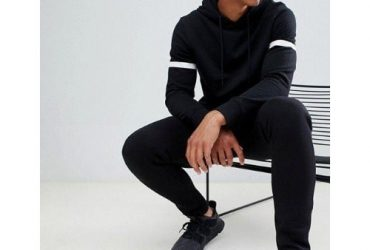 Patched Black Sweat-top And Joggers