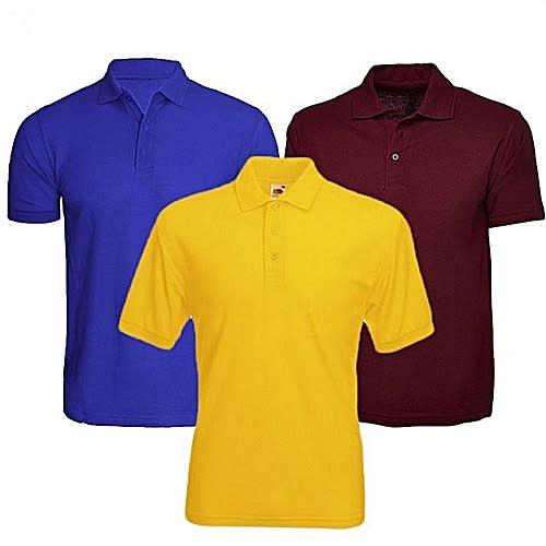 Adex 3 In 1 Quality Polo Shirts Bundle