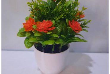 Artificial Decor Flower With Orange F…