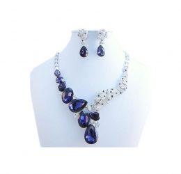 Purple Crystal Necklace Set (KLS)