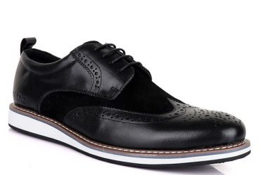 Aldo Bimaterial Lace Up Shoe | Black